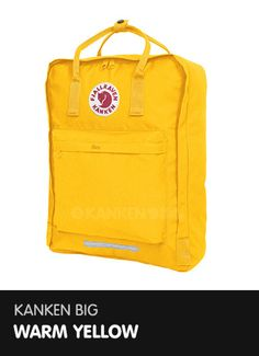 Kanken Big - Warm Yellow  http://www.ilovemykanken.com/shop/products/fjallraven-big-kanken-warm-yellow.htm