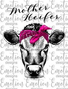 Your place to buy and sell all things handmade Cross Stitch Embroidery, Cross Stitch Patterns, Heifer Cow, Sunflower Png, Cow Art, Emotion, Red Bandana, How To Make Tshirts, Cows