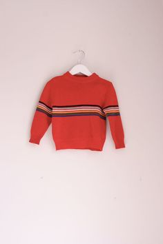 Vintage children's red ski sweater 24 months by fuzzymama on Etsy, $12.00