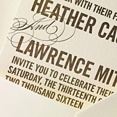 Letterpress Love in the Penthouse Loft Invitation