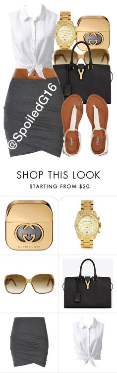 """""""Spring Break."""" by spoiledg16 ❤ liked on Polyvore featuring Gucci, Michael Kors, Yves Saint Laurent, ONLY, Forever New and Aéropostale"""