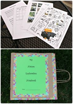Create your own Nature Journal -- Choose from 50+ free printables & make a great outdoor notebook for kids!