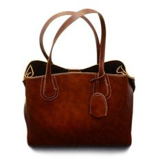 $26.08 Casual Stitching and PU Leather Design Women's Shoulder Bag