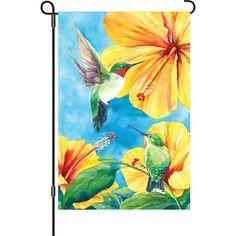 12 In Flag - Hummingbird Hibiscus