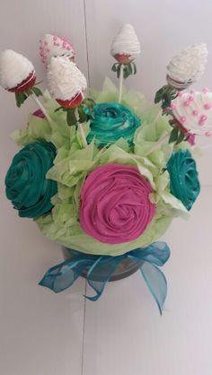 Chocolate & Vanilla Bean Cupcake Bouquet
