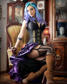 DraculaClothing, A new photo of Kato in our purple vex skirt...