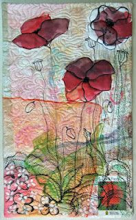 ~ art quilt ideas & inspirational poppy art quilt