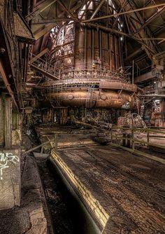 Abandoned Steel Mill.  Pittsburgh, Pennsylvania
