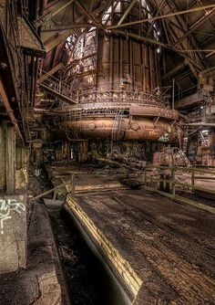 Abandoned Steel Mill.  Pittsburgh, Pennsylvania
