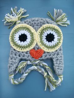Baby Boy/Girl Crochet Owl Animal Beanie Hat SIZE 12 MONTHS-Adult. $25.00, via Etsy.