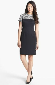 Vince Camuto Lace Print Crepe Dress available at #Nordstrom