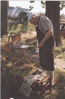 Kees Bol working outdoors Dutch Artists, Still Life, Outdoors, Landscape, Artists, Exterior, Landscaping, Off Grid, Outdoor
