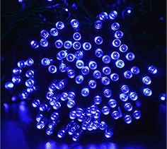 Rextin 200 LED 22M72ft Solar String Lights Blue Waterproof for Garden Patio Fence Path Landscape Wedding Party Christmas Decoration Blue >>> See this great product.  This link participates in Amazon Service LLC Associates Program, a program designed to let participant earn advertising fees by advertising and linking to Amazon.com.