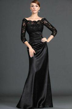 New Black Lace evening Long-Sleeve Wedding Dresses Prom Evening Dresses custom | eBay