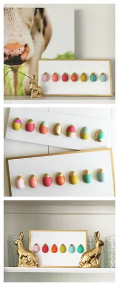 DIY Easter Egg Sign | Easter Decorations...I actually don't love this as a sign, but love the color blocking to be used other ways