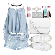 """""""Summer Trip."""" by af1nda ❤ liked on Polyvore featuring rag & bone/JEAN, Sans Souci, Yves Saint Laurent, Tory Burch, Sheriff&Cherry, MICHAEL Michael Kors, Carbon & Hyde, Skagen, St. Tropez and Bobbi Brown Cosmetics"""
