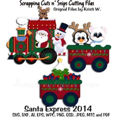 New Products : Scrapping Cuts, CU Cutting Files Christmas Train, Christmas Wood, Christmas Balls, Winter Christmas, Christmas Paper Crafts, Christmas Projects, Christmas Decorations, Christmas Scrapbook Layouts, Scrapbook Paper Crafts