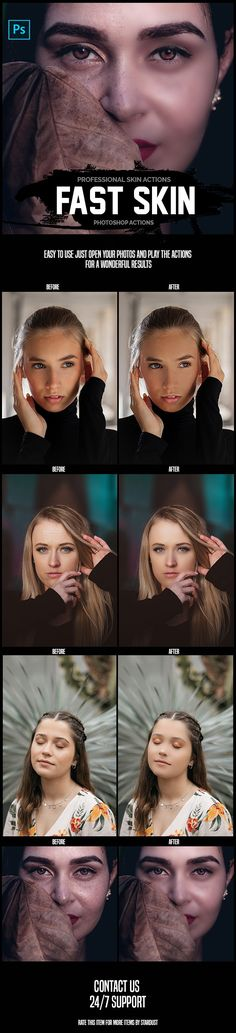 Buy Fast Skin - Professional Photoshop Actions by _Stardust_ on GraphicRiver. Fast Skin – Professional Photoshop Actions perfect for photographers and graphic designers. These actions are profess. Best Photoshop Actions, Photoshop Effects, Photography Tools, 3 D, Photo Editing, Graphic Design, Portrait, White Balance, Stuffing
