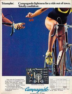 Campagnolo Triomphe 80s bike ad