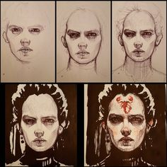 regram @subversivegirl A brief Making Of #Hallowink #PennyDreadful #EvaGreen #VanessaIves #scorpion #badass #Inktober #inktober2015 #ink #doodle #sketch #draw #drawingoftheday #insta #instagram #makingof