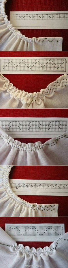 Sewing tutorials clothes dress costura ideas for 2019 Techniques Couture, Sewing Techniques, Makeup Techniques, Smocking Patterns, Sewing Patterns, Smocking Tutorial, Knitting Patterns, Crochet Patterns, Stitch Patterns
