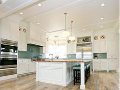 coastal kitchen great ceiling