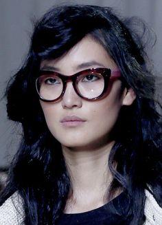 Fashion Week New York, les lunettes papillon de Philippe Lim Lunette  Papillon, Lunette De 97ac51db6736