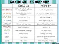 Social Skills Calendar - Speechy Musings
