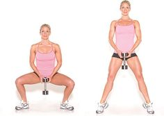 5.plie squats exercise to create thigh gap