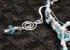 Aqua Crystal Earrings by JewelryByScotti on Etsy, $12.00