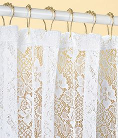 Romance White Lace Shower Curtain.....it Would Be Perfect If It Was Ivory |  DREAM HOUSE U003c3 | Pinterest | Lace Shower Curtains And House