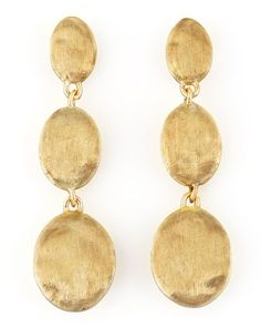 Siviglia 18K Gold Drop Post Earrings by Marco Bicego at Neiman Marcus.
