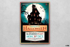 Halloween Flyer Template V20 by Thats Design Store on @creativemarket