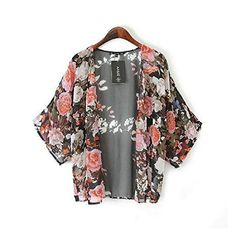 Sandistore Womens Shawl Kimono Chiffon Cardigan Coat Jacket L *** Learn more by visiting the image link.