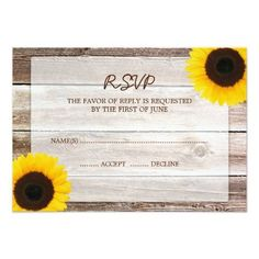 #weddinginvitation #weddinginvitations (Sunflower Barn Wood Wedding RSVP Response Card) #Affordable #Barn #Beautiful #Budget #Country #Cowboy #Cowgirl #Fall #Farm #Floral #Flowers #Response #Rsvp #Rural #Rustic #Sophisticated #Spring #Summer #Sunflower #SunflowerWeddingResponse #SunflowerWeddingRsvp #Wedding #Wood is available on Custom Unique Wedding Invitations  store  http://ift.tt/2asvc92