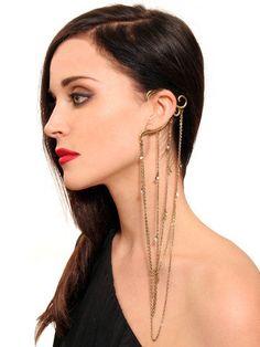 GYPSY WARRIOR - Multi Chain Ear Cuff