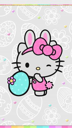 "nkoangel: ""Easter By Digital Cute Walls "" Easter Wallpaper, Snoopy Wallpaper, Sanrio Wallpaper, Holiday Wallpaper, Hello Kitty Wallpaper, Wallpaper Iphone Cute, Cute Wallpapers, Wallpaper Backgrounds, Phone Wallpapers"