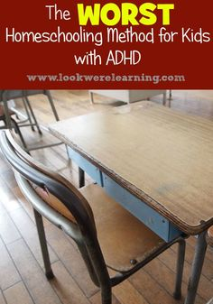 We've tried several homeschooling methods with our kids who have ADHD. Today, we're talking about the worst homeschooling method for ADHD kids! Classroom Seating Arrangements, Adhd Odd, Adhd Help, Homeschool Curriculum, Homeschooling, Special Needs Kids, Learning Disabilities, Teaching Kids, Classroom Management