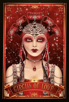 """Daily Angel Oracle Card: Circus Of Love, from the Divine Circus Oracle Card deck, by Alana Fairchild, artwork by Maxine Gadd Circus Of Love: """"Love, in all its forms, is the ultimate price in …"""