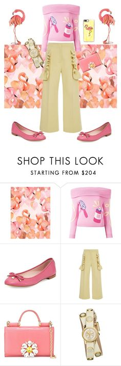 """Flamingo Fanny"" by afinediime ❤ liked on Polyvore featuring Jeremy Scott, Kate Spade, Marni, Dolce&Gabbana, Tory Burch, Casetify and Disney"