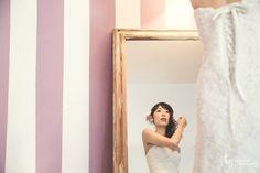 #wedding #sposa #righe #specchio #felicità