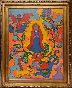 """Alexandre Filho - """" Maria dos Anjos"""" (1967). Óleo sobre Tela.. 80x50 cm."""