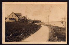 Memel 1910 Seebad Sandkrug Villenpartie