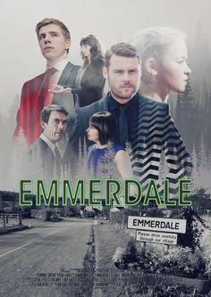 meg - twin peaks inspired emmerdale fan poster