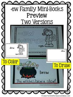 Printable Phonics Mini-Books for the -ew Family #TPT $Paid