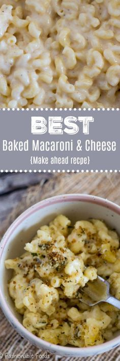 Decadent and cheesy, this classic comfort food is sure to warm your heart and soul. It truly is the best baked macaroni and cheese… and it can be made completely ahead!