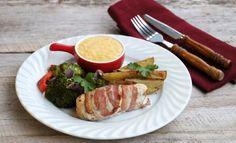 Baconsurra kyllingfilêt med maiskrem