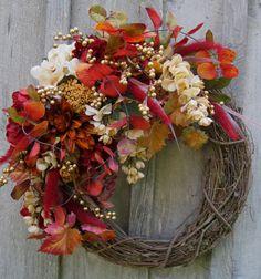 Fall Wreath Autumn Wreaths Thanksgiving by NewEnglandWreath, $149.00