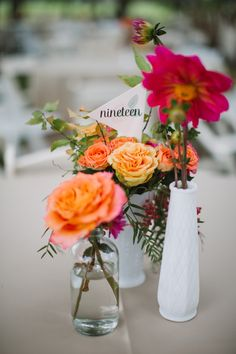 simple table settings with place cards by red skies design