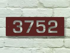 Rectangle 14 inch Address Sign - Metal, Street, Numbers, Custom, Mailbox, Steel, Plaque, House on Etsy, $17.95